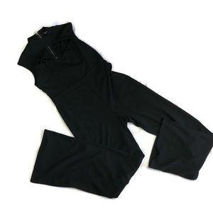 Fashion nova black jumpsuit wise leg size 1XL